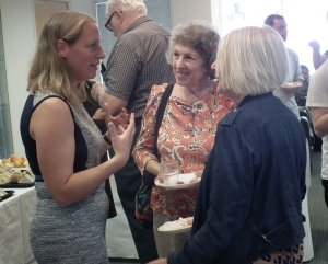 Alice Ridout (left) with Roberta Rubenstein and Clare Hanson